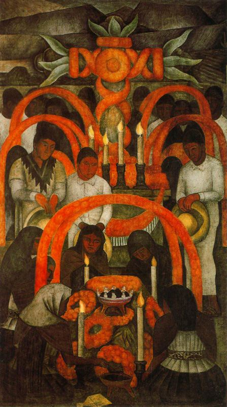 Diego Rivera, El día de los muertos: La oferta/The Day of the Dead: The Offering, 1923–24 Secretaría de Educacíon Pública, Mexico City
