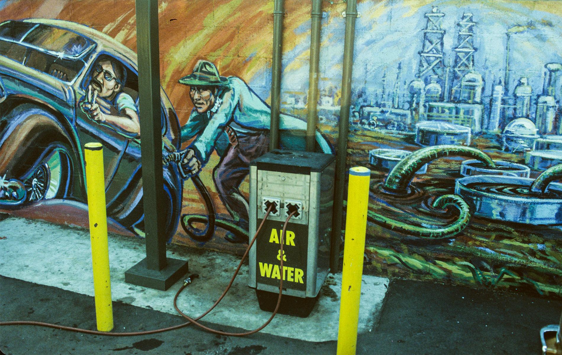 <h1>Mural detail, <em>Filling Up on Ancient Energies</em>, 1980</h1>
