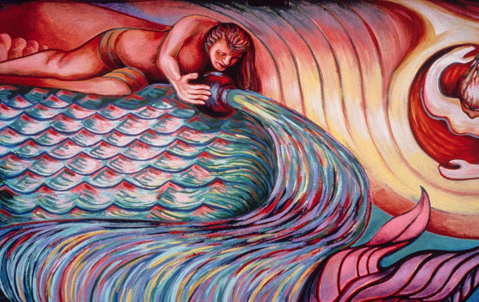 <h1>Mural detail, <em>Resurrection of the Green Planet</em>, c. 1991</h1>