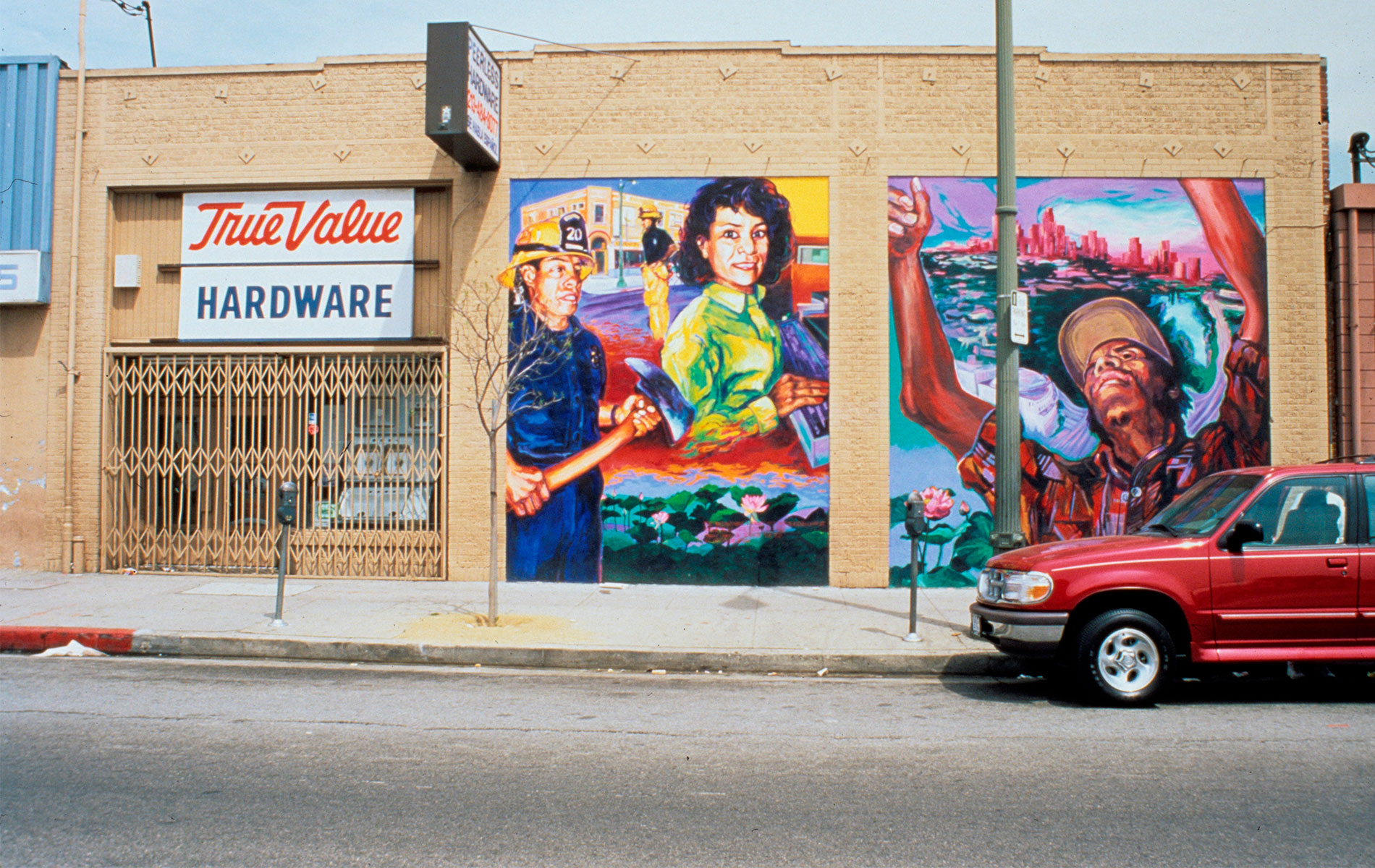 <h1>Mural detail, <em>El Nuevo Mundo: Homage to the Worker</em>, 1996</h1>