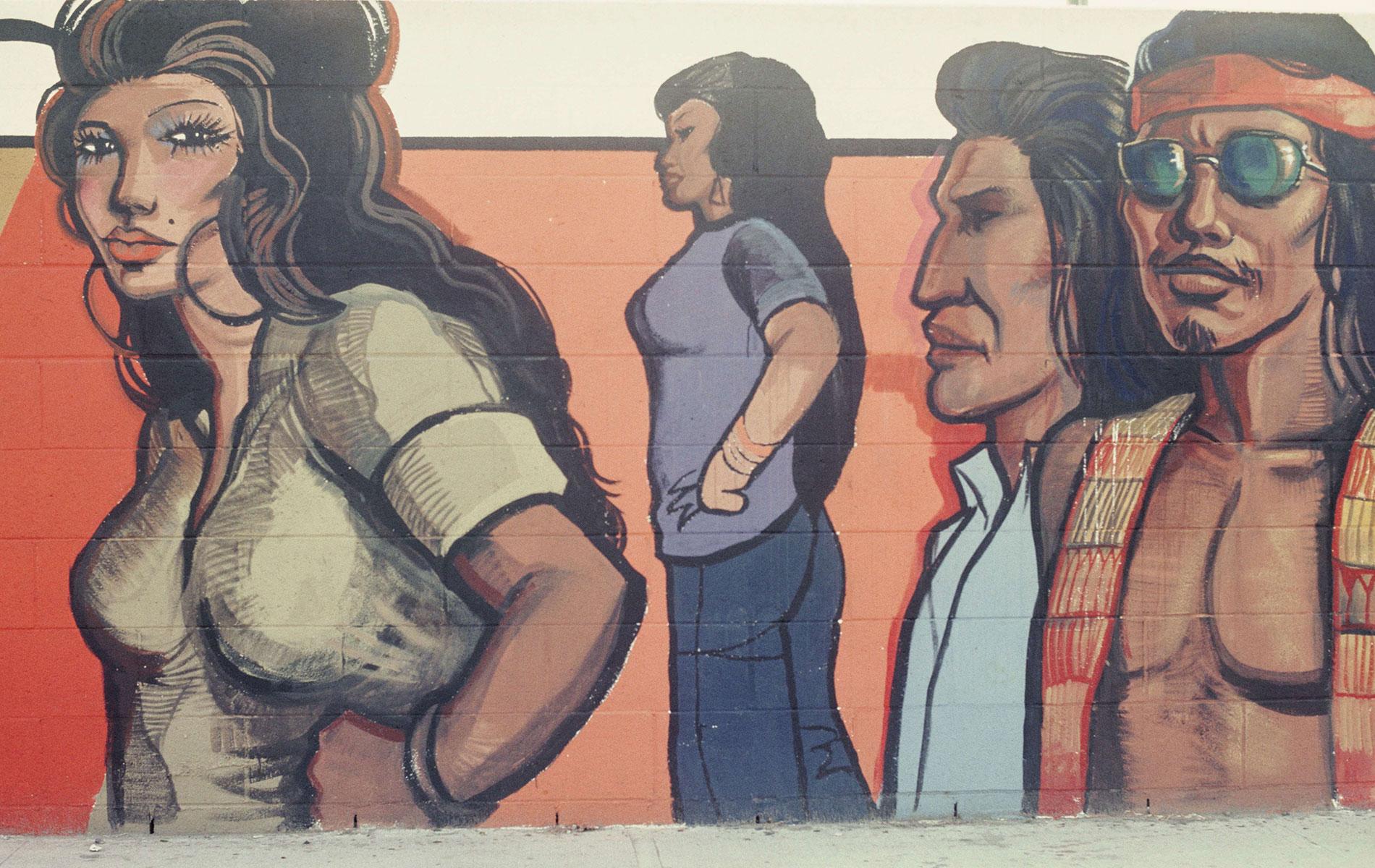 <h1>Mural detail, <em>Chicana/o Youth</em>, c. 1976</h1>