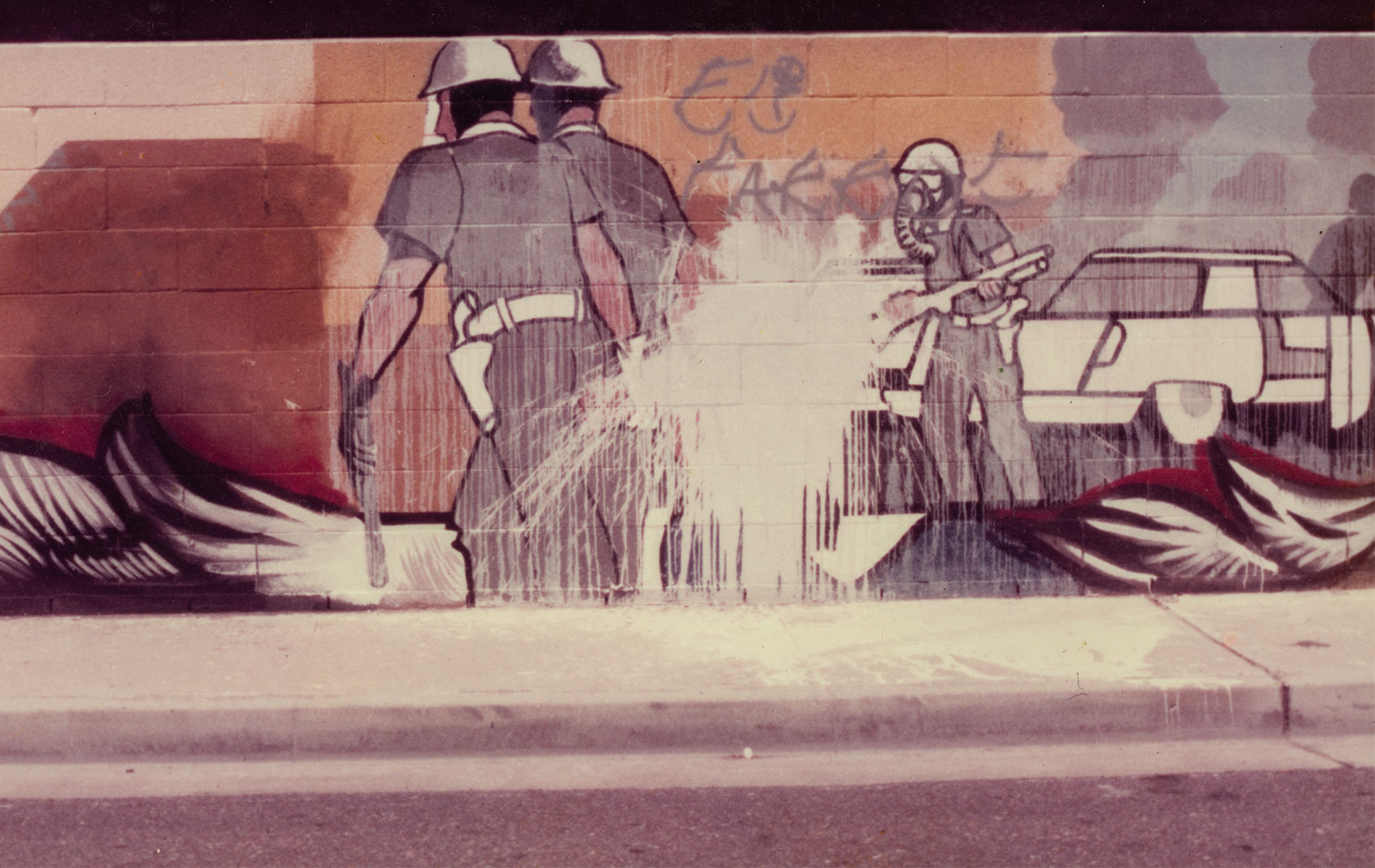 <h1>Mural detail, <em>Fountain Valley Mural</em> c. 1976</h1>