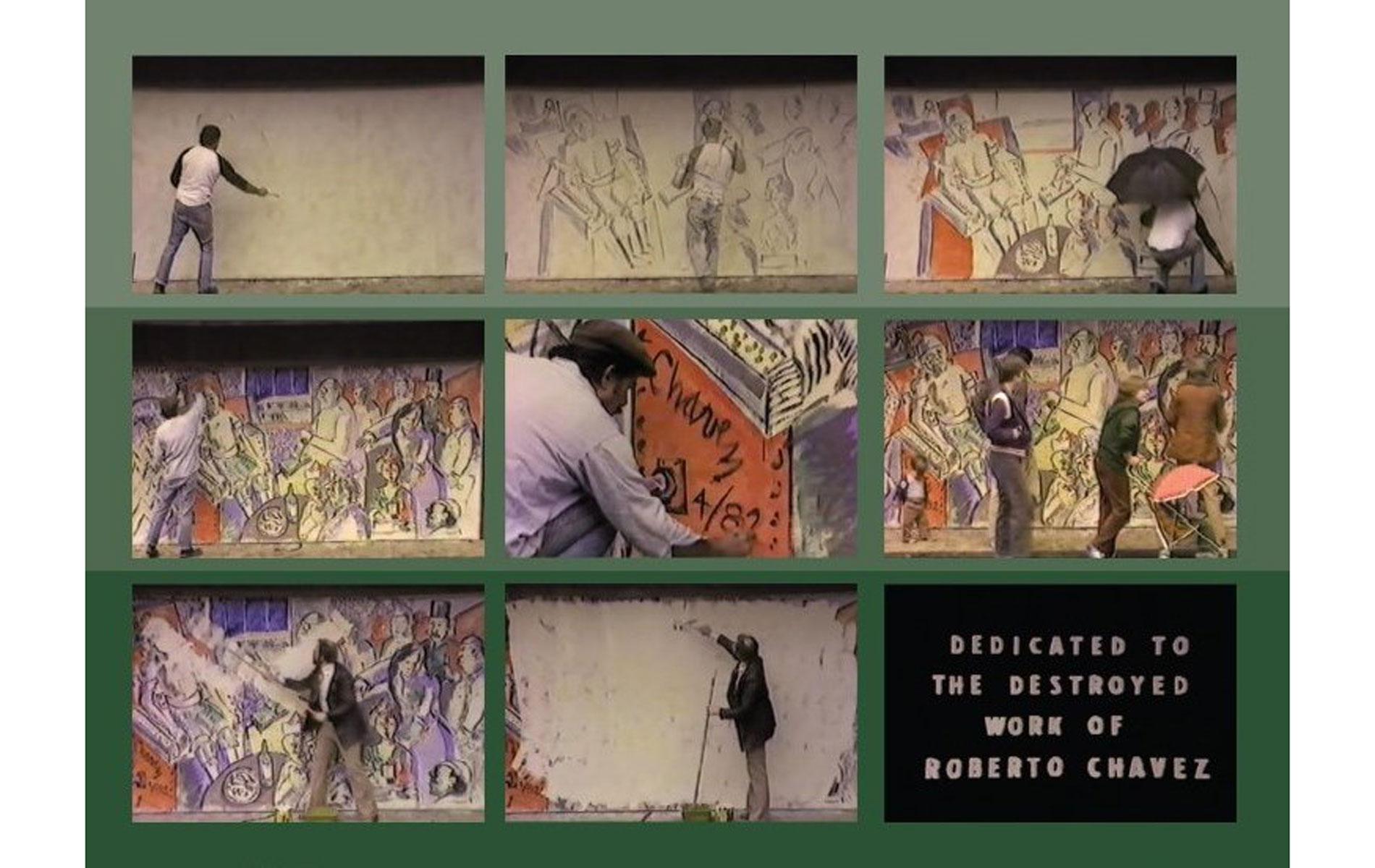 <h1>Video stills of Jeff Boice and Roberto Chavez's, <em>The Execution</em>, 1982</h1>
