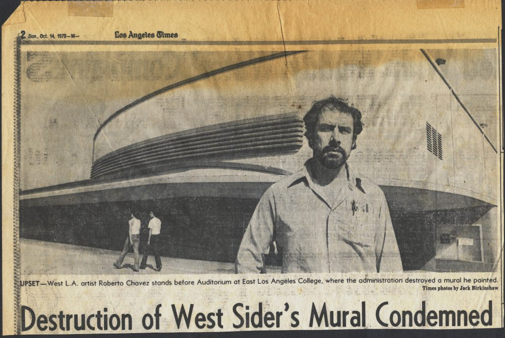 Los Angeles Times Clipping, October 14, 1979. Copyright © 1979, Los Angeles Times; photo: Jack Birkinshaw.