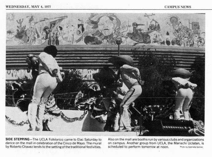 Cinco de Mayo Celebration, East Los Angeles College Campus News, May 4, 1977. Private Collection.
