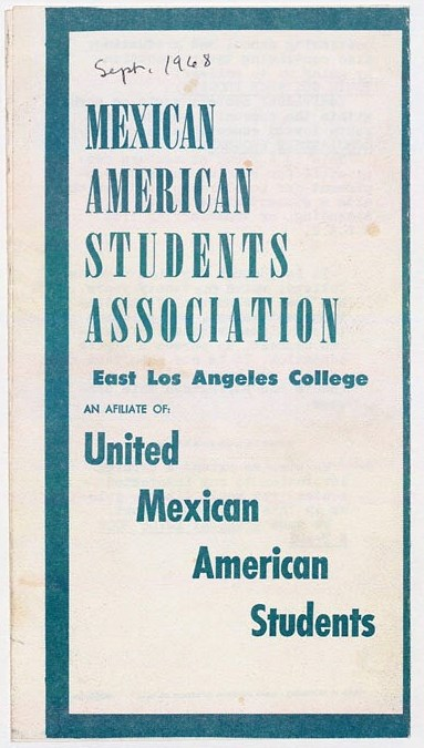 MASA Brochure, East Los Angeles College, 1968. Courtesy UCLA, Library Special Collections, Charles E. Young Research Library.
