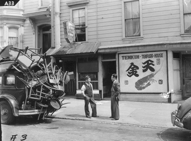 Clem Albers (Photographer), Evidence of the Forthcoming Evacuation of Residents of Japanese Ancestry, San Francisco, March 29, 1942 Courtesy The Bancroft Library